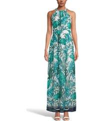 inc palm-print halter-neck maxi dress, created for macy's