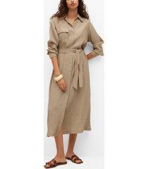 mango women's shirt textured dress
