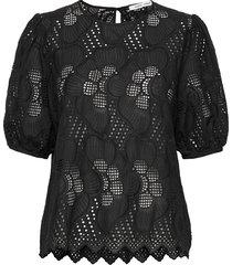 juni ss blouse 11455 blouses short-sleeved zwart samsøe samsøe