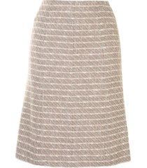 chanel pre-owned woven straight-fit skirt - multicolour