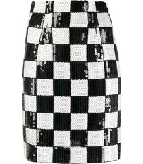 a.n.g.e.l.o. vintage cult 1990s checked fitted mini skirt - black