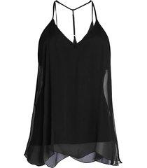 bailey 44 women's tree frog silk sleeveless top - black - size xs