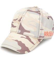 diesel camouflage-print cotton cap - neutrals