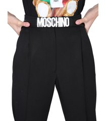 moschino belt with logo lettering