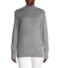 joseph a women's turtleneck sweater - mocha heather - size l