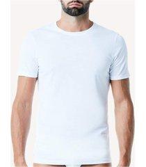 camiseta de manga curta gola de algodao supima® intimissimi algodão supima branco