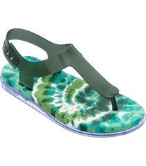 women's melissa hera thong sandal, size 5 m - green