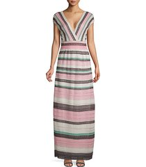 amethyst lace stripe maxi dress