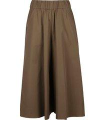 aspesi plain flared skirt