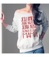 jedną ręką bluza dla karmiących matek