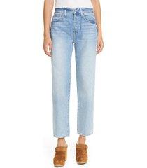 veronica beard blake high waist straight leg ankle jeans, size 29 in nova at nordstrom