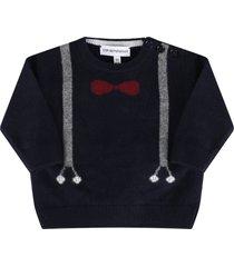 armani collezioni blue sweater for babyboy