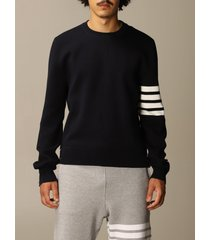thom browne sweater thom browne pullover in merino wool with stripes