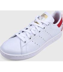 tenis lifestyle blanco-coral adidas originals satn smith