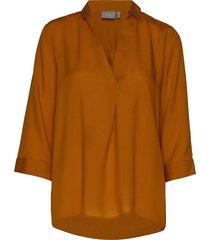 byjalino blouse - blouse lange mouwen geel b.young