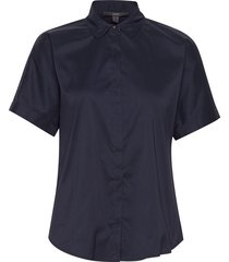 blouses woven kortärmad skjorta blå esprit collection