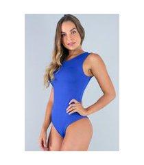 body mvb modas camiseta collant suplex azul