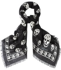 alexander mcqueen skull scarf 104x120