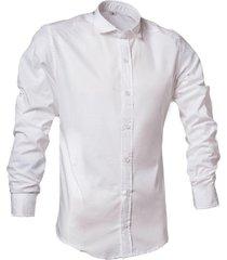 camisa blanca argento practico slim fit