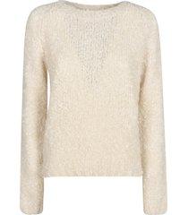 prada fur applique woven sweater
