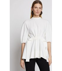 proenza schouler crepe belted top offwhite 8