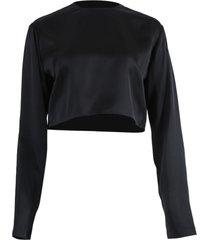 larisa cropped blouse black