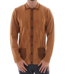 limited edition knitwear cardigan - toffee v41gm23-tof