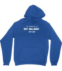 rip roy halladay shirt in memory of unisex royal blue hoodie sweatshirt