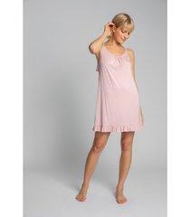 pyjama's / nachthemden lalupa la031 viscose chemise - roze
