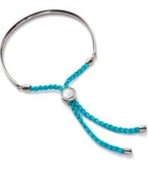 fiji friendship bracelet - turquoise, sterling silver