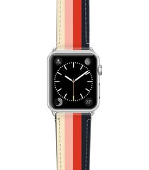 casetify rad retro saffiano faux leather apple watch strap