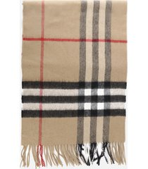 burberry classic cashmere scarf with tartan motif