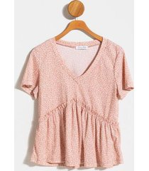carrie babydoll top - mauve