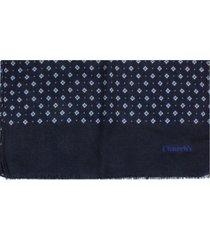 churchs scarf in blue wool