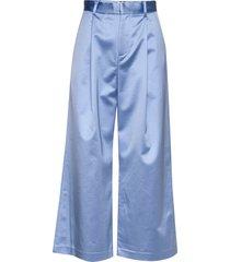 anelle wijde broek blauw custommade