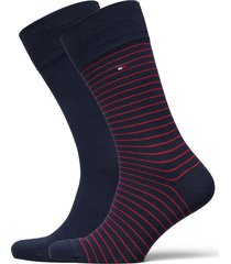 th men small stripe sock 2p underwear socks regular socks blå tommy hilfiger