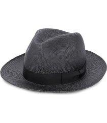 yohji yamamoto woven bow detail hat - black