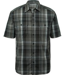 wolverine men's axel short sleeve shirt gunmetal plaid, size l