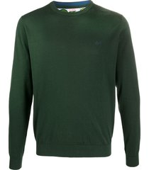 sun 68 round elbow print sweatshirt - green