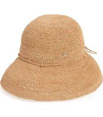 helen kaminski 'provence 10' packable raffia hat in nougat at nordstrom