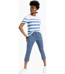 charter club petite printed bristol capris, created for macy's