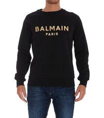 balmain golden logo balmain paris sweatshirt