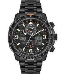 citizen eco-drive men's analog-digital promaster skyhawk a-t black stainless steel bracelet watch 46mm