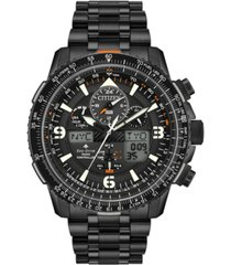 citizen eco-drive men's analog-digital promaster skyhawk a-t black stainless steel bracelet watch 46mm