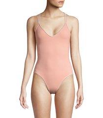 v-neck one-piece swimsuit