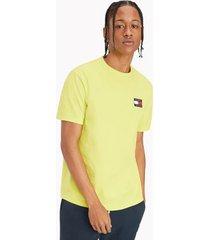 tommy hilfiger badge t-shirt neo lime - xxxl