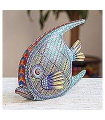 wood alebrije figurine, 'zapotec fish' (mexico)