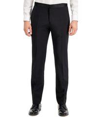 hugo men's regular-fit black tuxedo pants