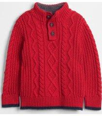 chaleco sherpa toddler boy rojo gap