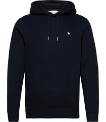 anf mens sweatshirts hoodie blå abercrombie & fitch